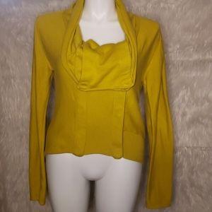 Alembika Asymmetrical Sweater in Mustard
